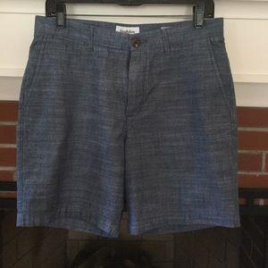 Men's blue chambray shorts, Sz. 30